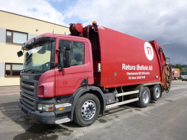 Scania P340 6x2+NTM PRESS+BOTEK WEIGHT
