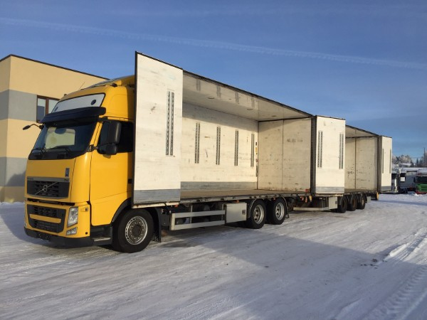 Volvo FH 550 6x4 EURO5+SIDE OPENING+BOX HEATING